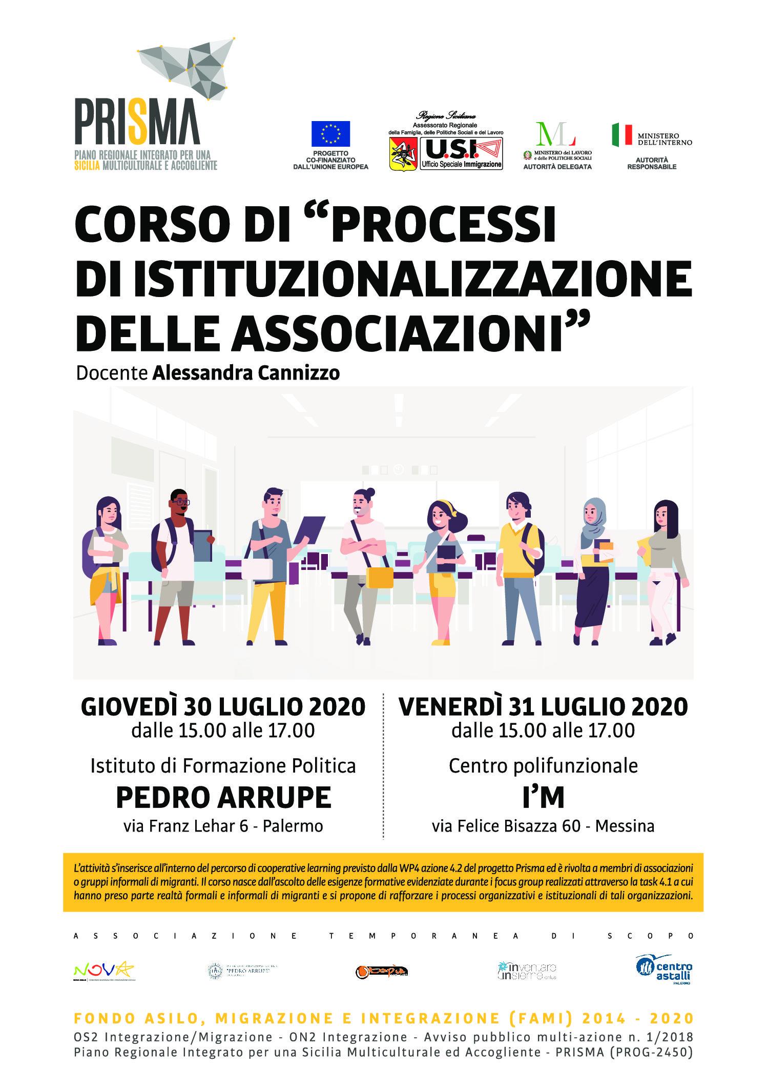 """""""Processi di istituzionalizzazione delle associazioni"""": al via il percorso di cooperative learning"""