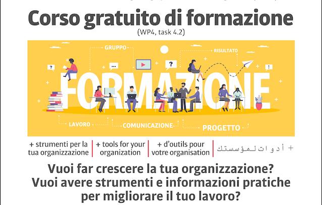 """Corso gratuito di formazione """"+ strumenti per la tua organizzazione"""": nuove date a Palermo, Catania e Messina"""