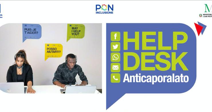 Attivo il primo Helpdesk interistituzionale Anticaporalato, il 22 giugno la presentazione